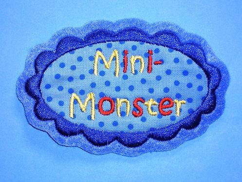 Mini Monster Aufnäher