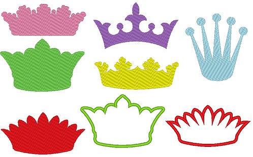 Stickdatei Kronen Krone Prinzessin