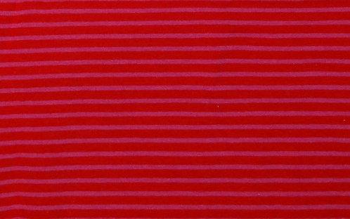 Jersey Streifen rot pink Meterware gestreift Ringel