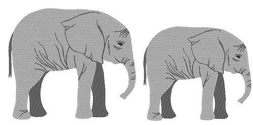 Elefant real inkl. Kissen ITH Stickdatei