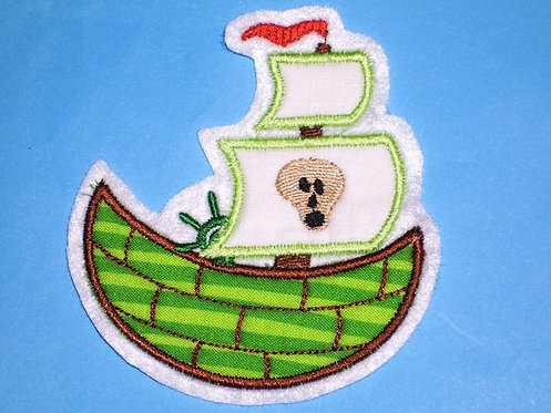 Piratenschiff Aufnäher