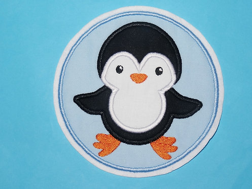 Pinguin im Button Aufnäher