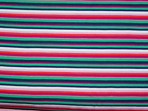 Streifen grün pink orange weiß rosa rot dunkelblau Jersey