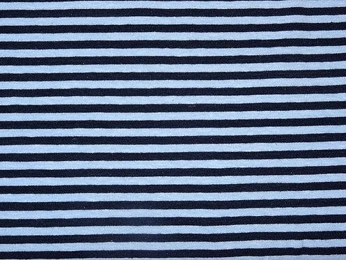 Jersey Streifen 5mm hellblau dunkelblau Meterware