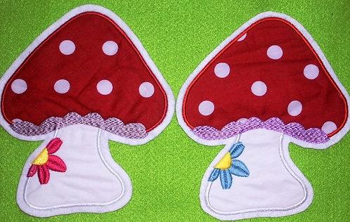 XL Fliegenpilz mit Blume Aufnäher