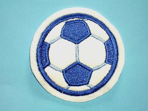 Fußball Aufnäher blau