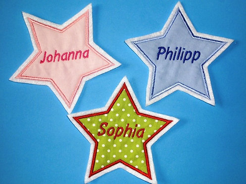 Stern mit Name in Wunschfarbe