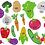 Thumbnail: Gemüse gefüllt Stickdatei