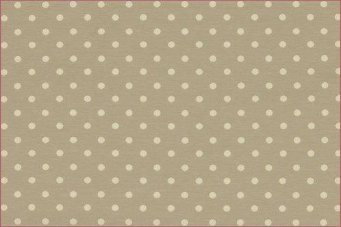 Punkte 5mm beige Jersey Baumwolljersey Meterware