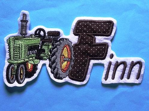 Traktor mit Name