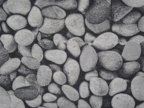 Canvas Steine Kieselsteine  Baumwolle Meterware