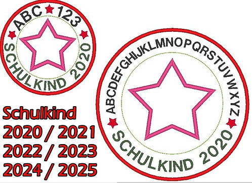 Stickdatei Schulkind 2020 2021 2022 2023 2024 2025