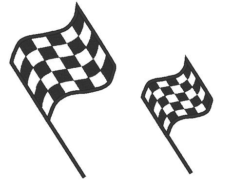 Zielflagge Aufnäher Name möglich