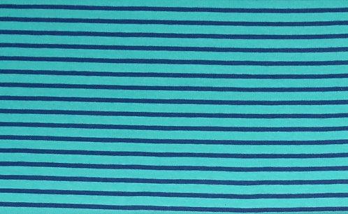 Campan Jersey Streifen türkis blau Meterware gestreift Ringel