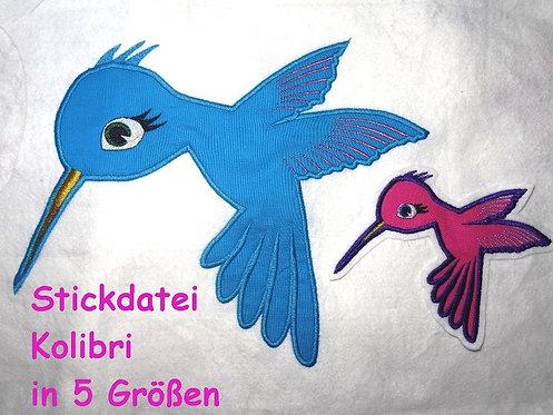 Stickdatei Kolibri Vogel