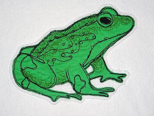 Scribble Kritzel Frosch Stickdatei Doodle