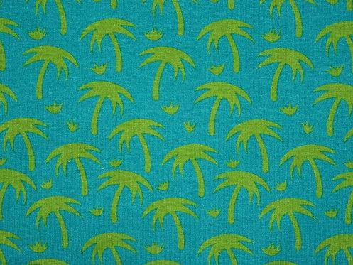 Palmen hellgrün türkis Jersey Baumwolljersey Meterware