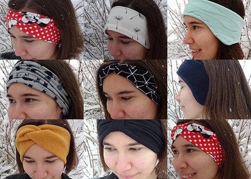 Stirnband Set in 7 Varianten mit Schnittmuster E-Book