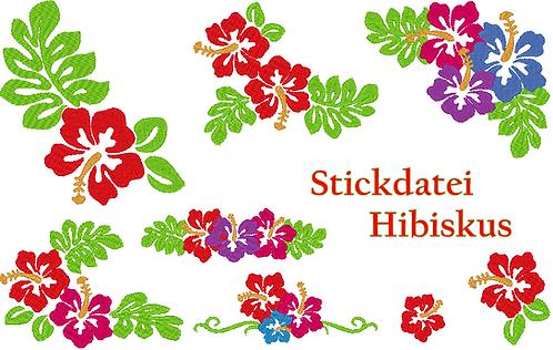 Hibiskus Stickdatei