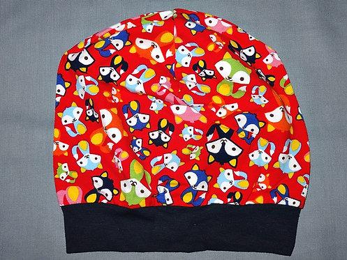 Beanie Fuchs rot Mütze Tiere Handmade genäht Jersey