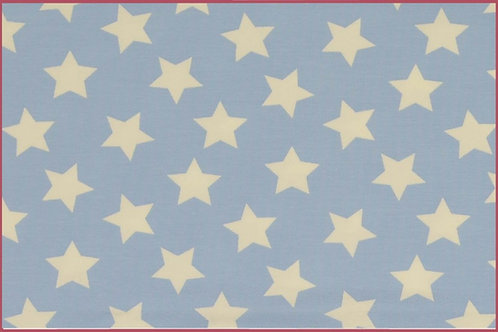 Sterne 2,5cm hellblau weiß Jersey Baumwolljersey Meterware