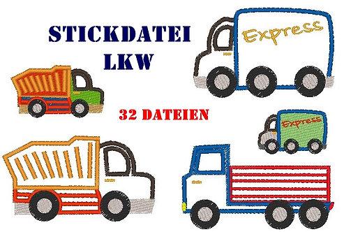 Stickdatei LKW Laster