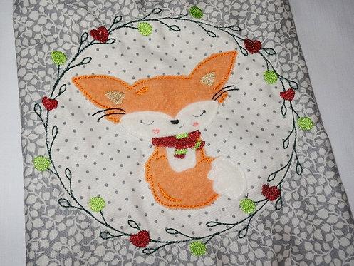 Fuchs Doodle + Geschenkbeutel ITH Stickdatei