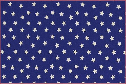 Sterne 1cm blau weiß Jersey Baumwolljersey Meterware