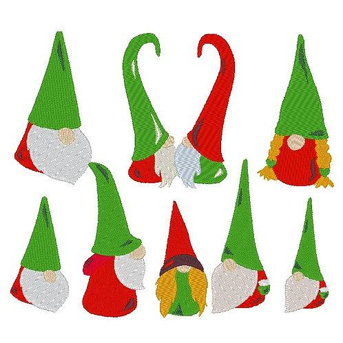 Gnome Zwerg Weihnachten Stickdatei