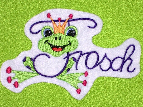Frosch Aufnäher