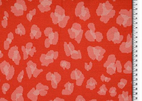 Jacquard rosa hellrot Milliblu´s Meterware edel Jersey Blüten