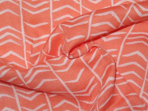 Double Gauze Musselin orange Meterware Baumwolle