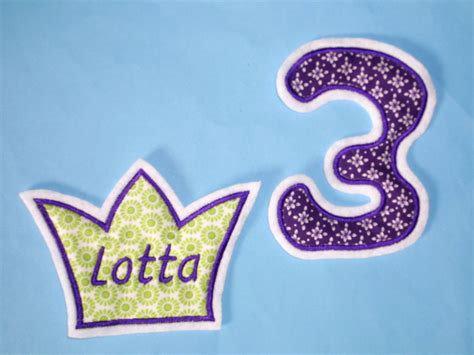Krone mit Name und Zahl in Wunschfarbe