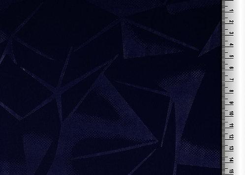 Funktionsjersey mit grafischem Muster uni dunkelblau Meterware Polyester