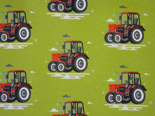 Traktor rot auf grün Wintersweat Sweat Fräulein von Julie Jersey