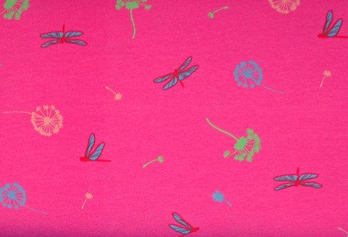 Jersey Libelle Pusteblumen mit Duft pink