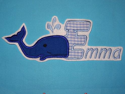 Wal mit Name Aufnäher