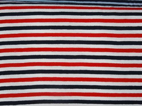 Jersey Streifen 5mm rot weiß dunkelblau Meterware