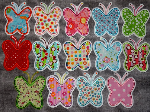 Schmetterling Aufnäher in 14 verschiedenen Farben