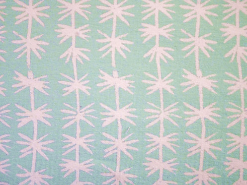 Mint weiß schlicht Damen Jersey Baumwolle Meterware Baumwolljersey Blumen Palme