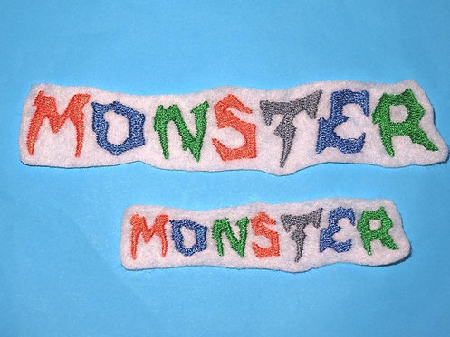 Monster Schrift Aufnäher