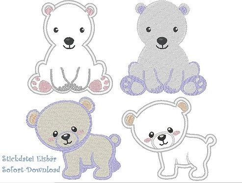 Stickdatei Eisbär Bär