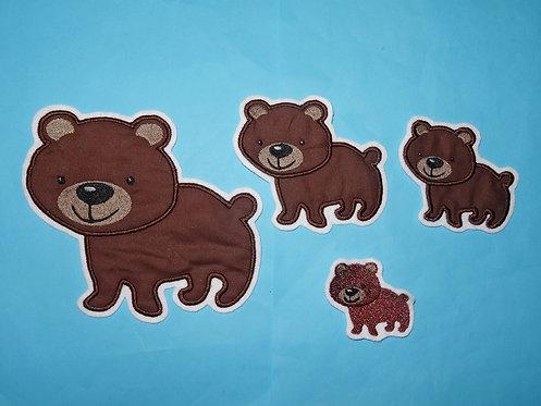 Bär Braunbär Aufnäher