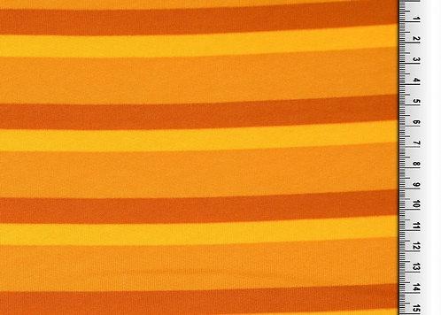 Wintersweat Sweat Streifen gelb ocker Kombistoff Meterware Baumwollsweat