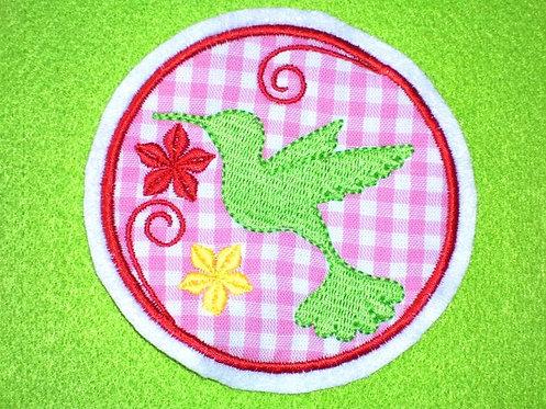 Kolibri Button Aufnäher