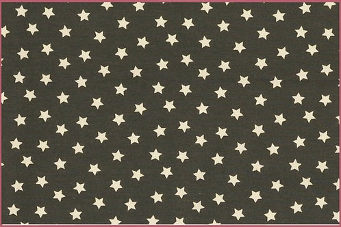 Sterne 1cm grau weiß Jersey Baumwolljersey Meterware