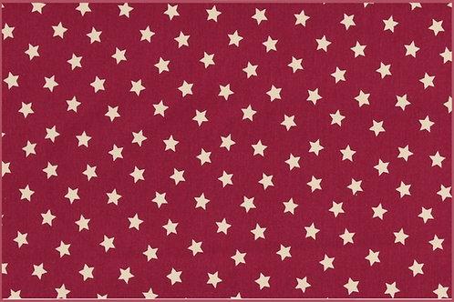Sterne 1cm magenta weiß Jersey Baumwolljersey Meterware