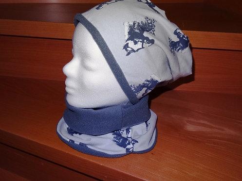 Wendebeanie Beanie Mütze mit Halssocke nähen