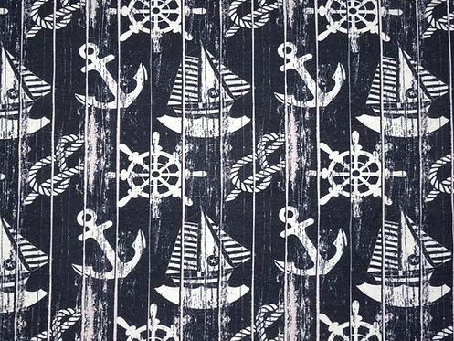 Anker Steuerad Segelschiff Sommersweat Jersey Fräulein von Julie