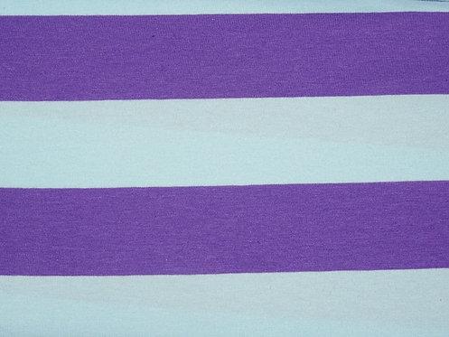 Jersey Streifen lila hellblau 44mm Meterware